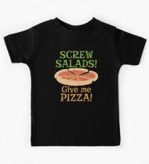 SCREW SALADS Give me PIZZA! Kids Tee