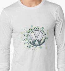 The Abstract Circular VW Badge 2  Long Sleeve T-Shirt