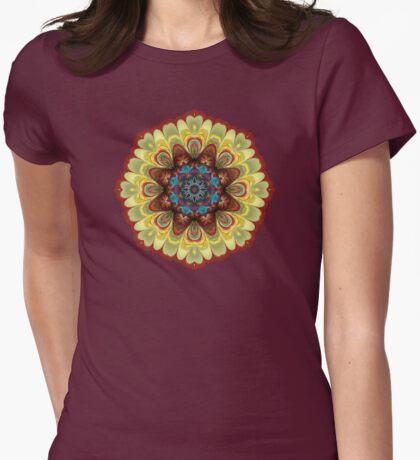 Fractal Mandala Geometry Hearts T-Shirt