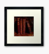 Old Red Books Framed Print