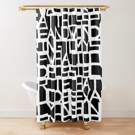 IWASLOOKIN... (BLACK SPACE) Shower Curtain