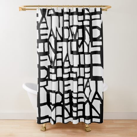 IWASLOOKIN... (WHITE SPACE) Shower Curtain