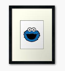 Kaws Head Blue Framed Print