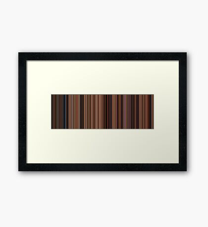Moviebarcode: Ratatouille (2007) [Simplified Colors] Framed Print