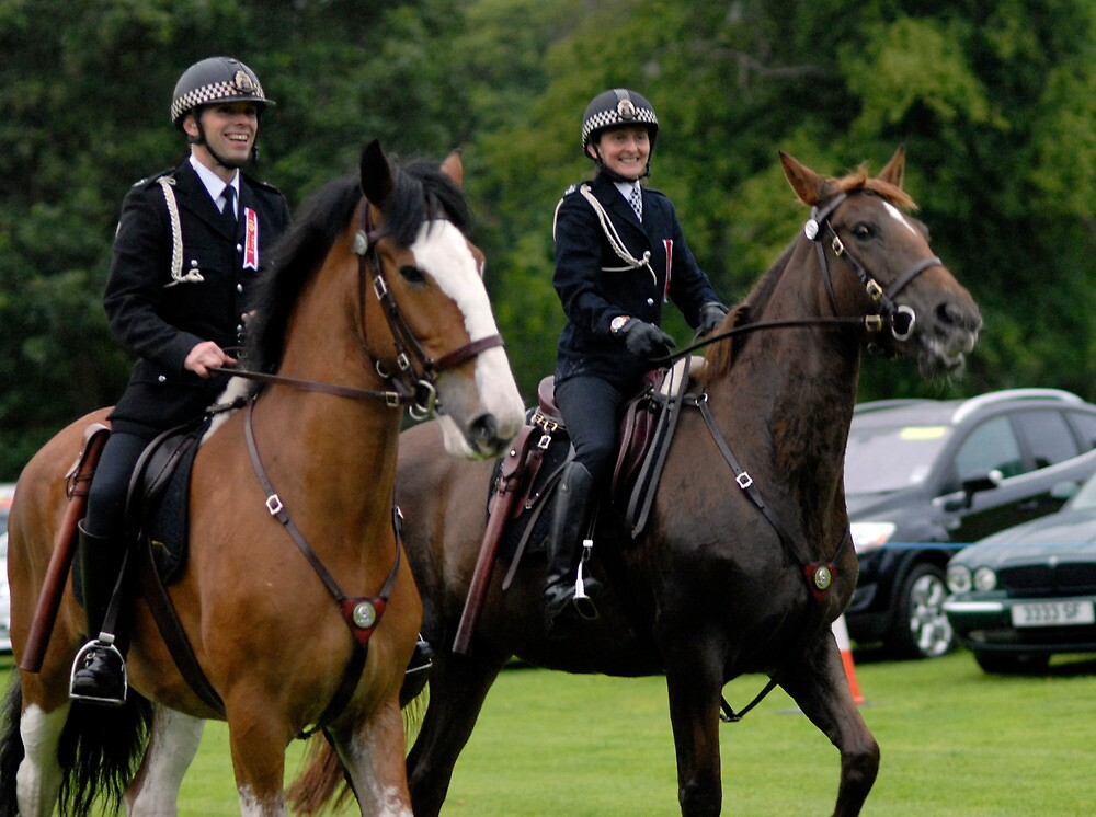 Police Horses at Beltane , Peebles, 2011 by rosie320d