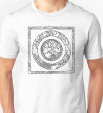 Wheel and Square Design Unisex T-Shirt