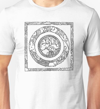 Wheel and Square Design T-Shirt