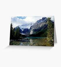 Mt Edith Cavell Greeting Card