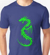 Tribal Dragon Verde Unisex T-Shirt