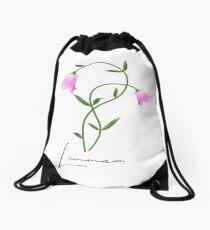 Nordic Wildflower Linnea Twinflower Pretty Pink Flowers floral Drawstring Bag