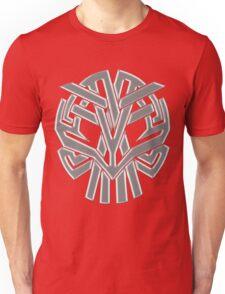 Tribal Skull Gris Unisex T-Shirt