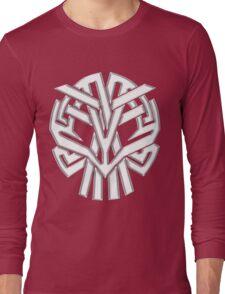 Tribal Skull Blanco Long Sleeve T-Shirt