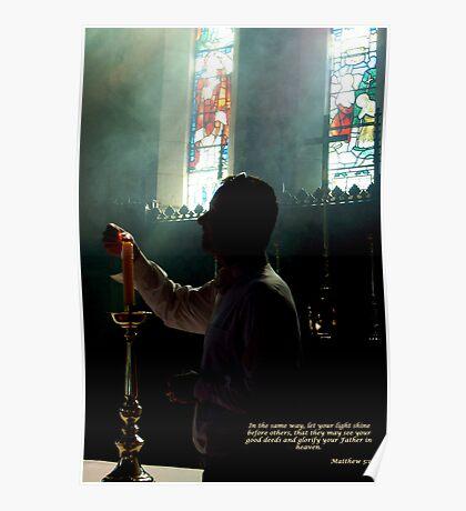 Matthew 5:16 ~Holy Trinity Anglican Church, Dubbo Poster