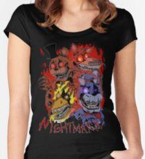 Fnaf 4 - Nightmare  Women's Fitted Scoop T-Shirt