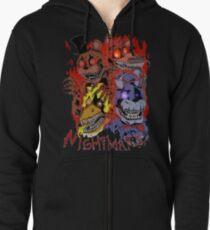 Fnaf 4 - Nightmare  Zipped Hoodie