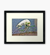 Table & Chairs Framed Print
