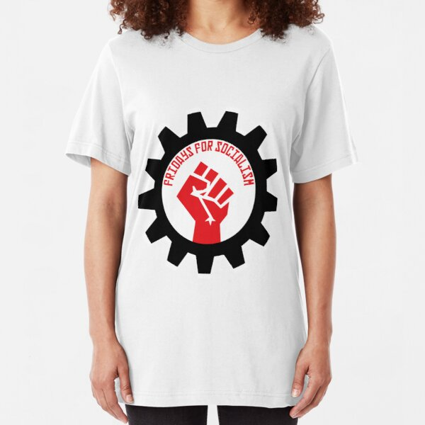 Fridays for Socialism Slim Fit T-Shirt