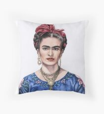Hommage to Frida Kahlo Throw Pillow