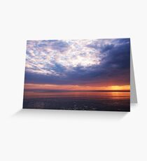 Dawn June 23 Lake Erie, West of Cleveland Greeting Card