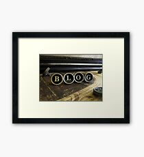 Blog - Brown Framed Print
