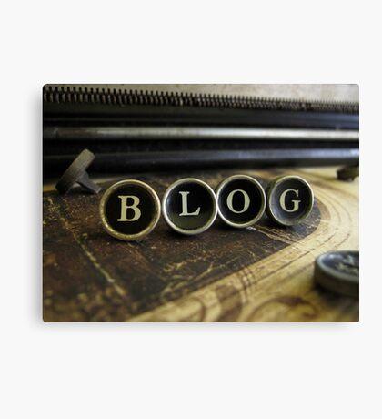 Blog - Brown Canvas Print