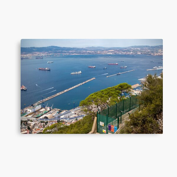 The harbour from the Rock of Gibraltar Canvas Print