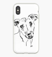 Whippet Drawing iPhone Case
