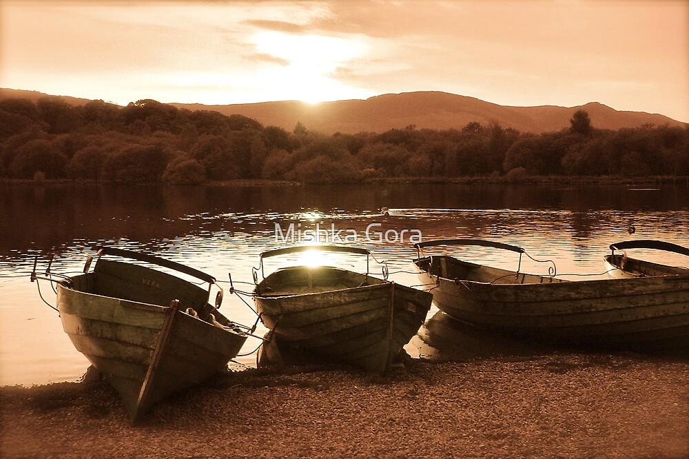 Derwent Water Sunset by Mishka Gora