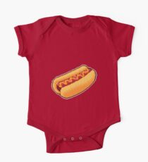 Pixel Hot Dog One Piece - Short Sleeve