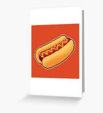 Pixel Hot Dog Greeting Card