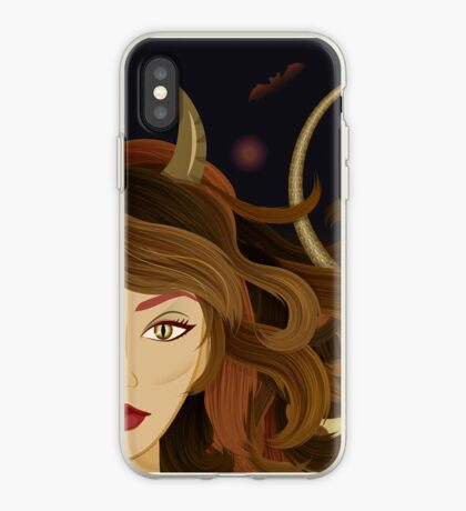 Witch devil girl iPhone Case