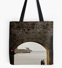 Rhodes Waterfront Arch Tote Bag