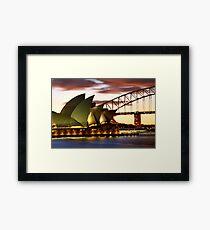 Sydney Icons Closeup Framed Print