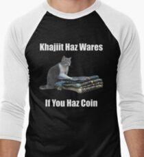 Khajiit haz wares - V.3 classic meme Men's Baseball ¾ T-Shirt