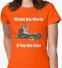 Khajiit haz wares - V.3 classic meme Womens Fitted T-Shirt