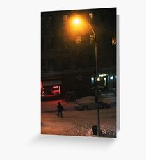 Snow on Greenwich  Greeting Card