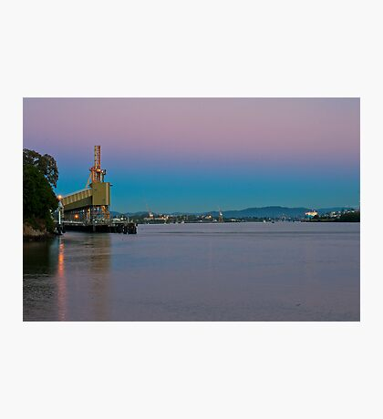 110624 Brisbane River Industry Sunrise Photographic Print
