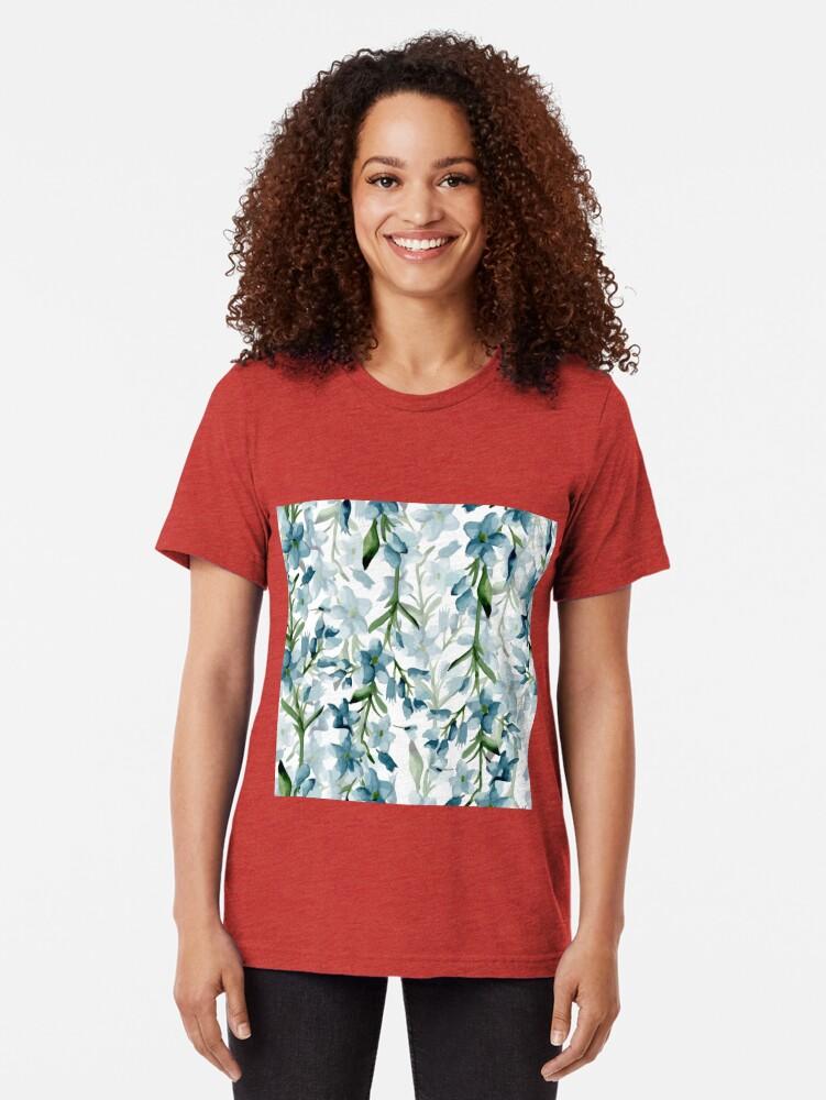 Vista alternativa de Camiseta de tejido mixto Ramas azules