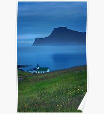 Nightime in the Faroe Islands Poster