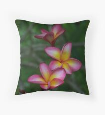Hawaiian Sunset FrangipaniI - Colour of Passion Throw Pillow