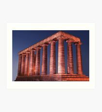 Edinburgh National Monument at Night Art Print