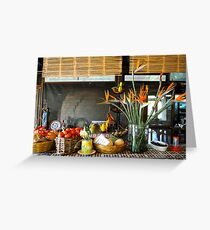 still life with vegetables Greeting Card