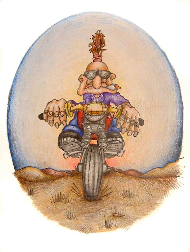 Goblin bike rider by woodrowsworld