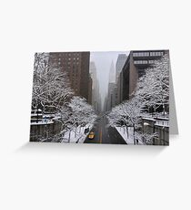 New York - Yellow cab on the 42nd street Greeting Card