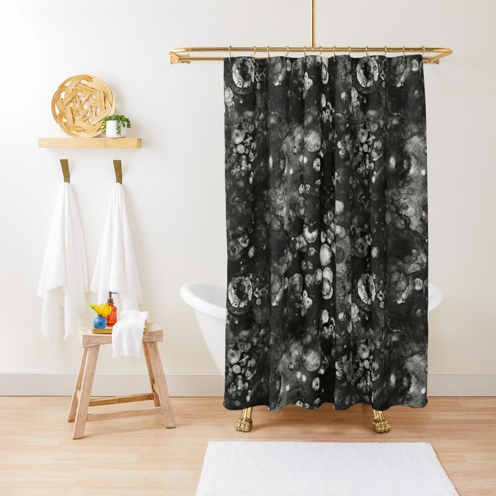 Black Grunge Shower Curtain