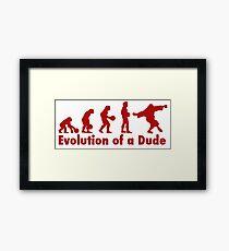 The Dude evolution red Framed Print
