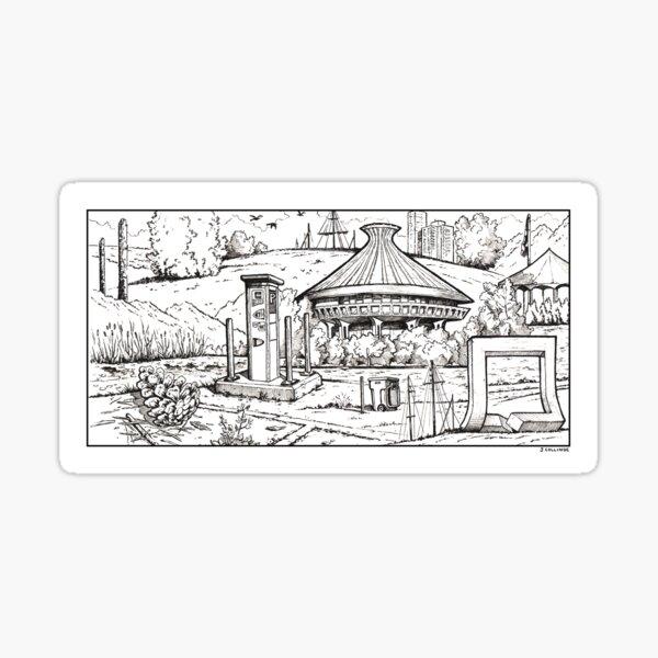 Vancouver Illustration - Vanier Park Sticker