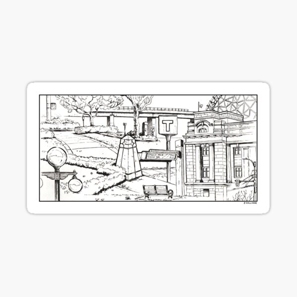 Vancouver Illustration - Main and Terminal Sticker