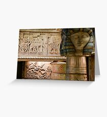 Egyptian Carvings And Columns Greeting Card