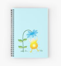 Happy sunshine getting a flower bath Spiral Notebook